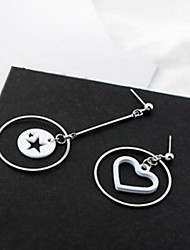 Drop Earrings New Mismatching Asymmetry Earrings Personalized Contracted Star Irregular Heart Circle Earring For Women Daily Party Gift Movie  Jewelry