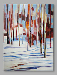 IARTS® Hand Painted Oil Painting Modern Natural Sunny Winter Forest Abstract Art Acrylic Canvas Wall Art For Home Decoration
