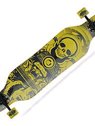 Holz Kanadisches Ahornholz Unisex Erwachsene Longboards Skateboard 41 Zoll ABEC-9-Purpur Gelb Schwarz/rot Grün Rot/gelb