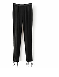 Women's Mid Rise Stretchy Cigarette Pants,Street chic Straight Solid