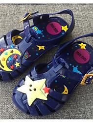 Girls' Sandals Comfort PVC Summer Casual Comfort Blue Ruby Flat