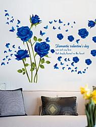 Blue Bunny Rose Bedroom Venture Living Room Bathroom TV Background Decorative Wall Stickers