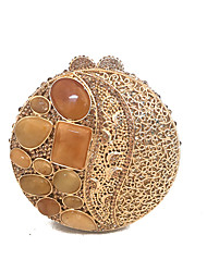 Women Delicate Gold Ball Evening Handbags Clutches Purse