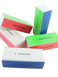 5PCS 4-Way Multi-Color Nail Art Buffing Buffer Block Sanding Files/Remove Ridges/Smooth Nail/Shine Nail Art Salon Manicure Pedicure Tools Set