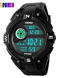 Herrn Sportuhr Kleideruhr Smart Uhr Modeuhr Digitaluhr Armbanduhr Chinesisch digital Kalender Großes Ziffernblatt Silikon Band