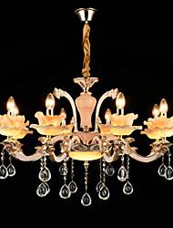 Подвесной светильник, современный / современный традиционный / классический сплав цинка для хрустального мини-стиля.
