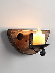 AC110-240 40 E12/E14 Rustic/Lodge Painting Feature for Mini Style,Uplight Wall Sconces Wall Light