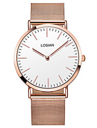 Men's Fashion Watch Wrist watch Quartz Stainless Steel Band Casual Rose Gold