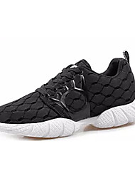 Men's Athletic Shoes Running Comfort Rubber Spring Fall Outdoor Lace-up Flat Heel Black Blue Light Blue Under 1in