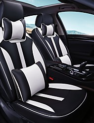 Car Seat Cushion Car Seat Cover Family Car Leather Seat Cover Four General--Black And White