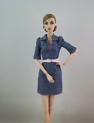 Fashion Jean Dress For Barbie Doll For Girl's Doll Toy