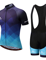 Miloto Cycling Jersey with Bib Shorts Men's Male Short Sleeves Bike Clothing Suits Cycling Wicking Spandex Spring/Fall Summer Cycling/Bike