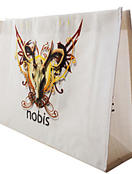 Women Tote Plastic All Seasons Casual Shopper Without Zipper White