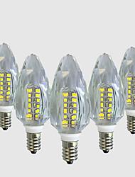 4W Luci LED a candela C35 40 SMD 2835 450-500 lm Bianco caldo Bianco V 5 pezzi