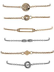 Femme Chaînes & Bracelets Charmes pour Bracelets Mode Style Punk Hip-Hop Pierre Alliage de métal Strass Alliage Bijoux PourRendez-vous