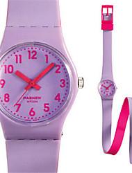 Kid's Sport Watch Quartz Water Resistant / Water Proof Rubber Band Blue Orange Purple
