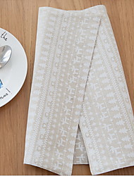 French Countryside Simple Double Sided Cotton And Linen Material Modern Table Placemat 32*45cm