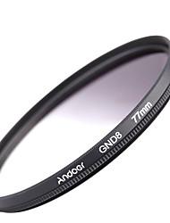 Andoer 77mm круглая форма градуированная нейтральная плотность gnd8 градуированный серый фильтр для камеры canon nikon dslr