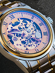 Men's Dress Watch Fashion Watch Wrist watch Unique Creative Watch Casual Watch Japanese Calendar Water Resistant / Water Proof Hollow