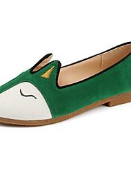 Feminino Sandálias Conforto Borracha Verão Caminhada Conforto Salto Baixo Preto Verde Castanho Claro Menos de 2,5cm