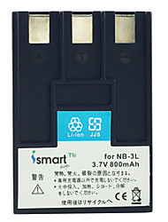 Ismartdigi 3L 3.7V 800mAh Camera Battery for Canon IXUS 750 700 IIs i5 i PC1060
