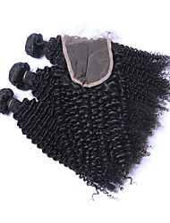 Natural Color Hair Weaves Brazilian Texture Kinky Curly Curly Weave More Than One Year Four-piece Suit hair weaves