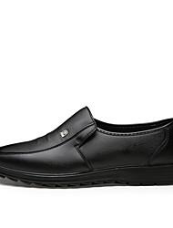 Herren Loafers & Slip-Ons Komfort formale Schuhe Vollnarbenleder Leder Sommer Herbst Normal Komfort formale Schuhe Schwarz Braun Flach