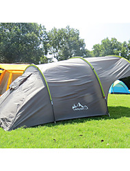 3-4 persons Tent Double Family Camping Tents Three Rooms Camping Tent 3000mmAluminium Alloy PU Leather/Polyurethane Leather Oxford