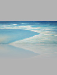 IARTS® Hand Painted Modern Abstract Summer Beach Wave Oil Painting On Canvas with Stretched Frame Wall Art For Home Decoration Ready To Hang
