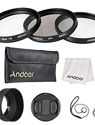 Andoer 49mm Lens Filter Kit UV CPL Star8 with Lens Accessories