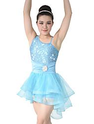 MiDee Adults' Children Dance Dancewear Front Short Back long Adults' Children Girls Ballet Dance Dresses