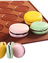 Delidge 1pc 30 Holes Round Macarons Mat Silicone Cake Mold Mat DIY Pastry Cake Pad Baking Mat Nonstick Pastry Mats