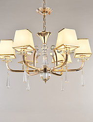 Chandelier moderne / contemporain électroplaté pour cristal métal salon chambre / bureau