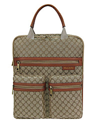 Kate&Co. classic retro jacquard fabric with leather multifunction leisure / portable computer package TH-2131 15 inch Khaki