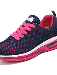 Women's Athletic Shoes Comfort PU Spring Summer Casual Comfort Low Heel Ruby Peach Black Under 1in