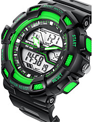 Men's Digital Watch Digital Calendar Water Resistant / Water Proof Alarm Stopwatch Noctilucent Rubber Band Black
