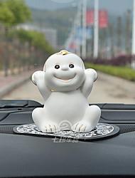 Diy ornements d'automobile décoration créative petite bête de singe jolie décoration pendentif de voiture&Ou la céramique