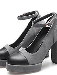 Feminino Saltos Conforto Outras Peles de Animais Outono Casual Preto Cinzento 10 a 12 cm