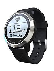 Men's Smart Watch Digital Silicone Band Black Grey