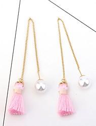 Women's Drop Earrings Imitation Pearl Tassel Alloy Jewelry For Daily