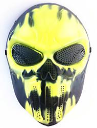 crânio criativo do Dia das Bruxas máscara do fantasma assustador chefe do wargame tático cs cosplay camuflagem máscara de fogo preto