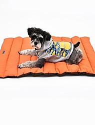 Dog Bed Pet Mats & Pads Solid Soft Washable Blue Orange