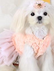Chien Robe Vêtements pour Chien Décontracté / Quotidien Princesse Blanc Rose