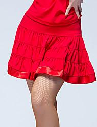 Baile Latino Pantalones y Faldas Mujer Actuación Seda Sintética Plisado 1 Pieza Cintura Media Faldas