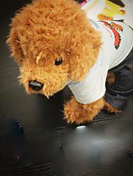 Cane T-shirt Abbigliamento per cani Casual Con ricami Azzurro chiaro