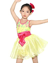 MiDee Ballet Dresses Children's Performance Spandex / Polyester / Organza Bow(s) / Embroidery / Sash/Ribbon 1 Piece Sleeveless Natural DressAs