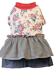 Chien Robe Vêtements pour Chien Décontracté / Quotidien Floral/Botanique