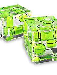 Triple de 3 ejes de zapata de burbuja de nivel de burbuja de nivel para canon nikon pentax dslr cámara (2 pack)