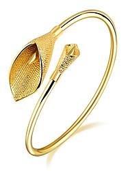 Mulheres Pulseiras Algema Zircônia Cubica Básico Moda Adorável Jóias de Luxo Zircão Chapeado Dourado Rosa Folheado a Ouro Tubular