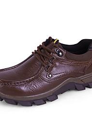 Для мужчин Спортивная обувь Удобная обувь Формальная обувь Обувь для дайвинга Флисовая подкладка Зима Натуральная кожа Наппа Leather Кожа